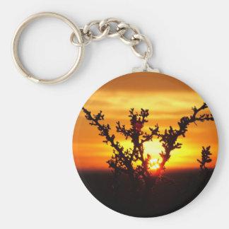West Texas Desert Sunset Basic Round Button Key Ring