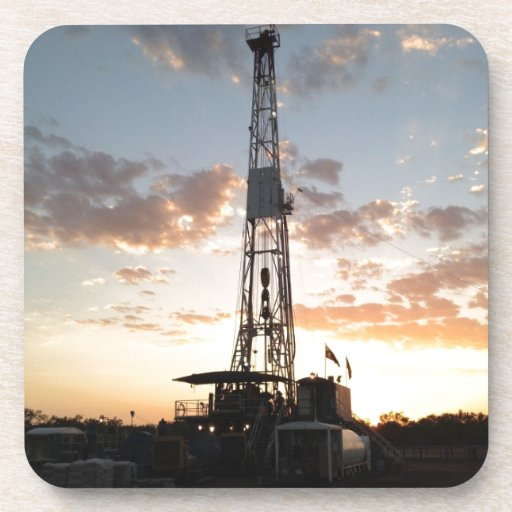 West Texas Drilling Rig Beverage Coasters
