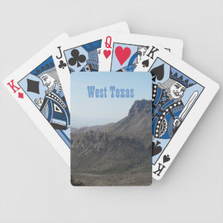 West Texas Mountain Landscape Bicycle Poker Cards