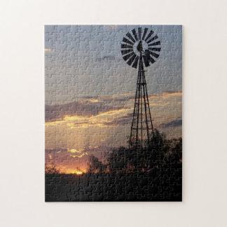 West Texas Windmill Jigsaw Puzzles