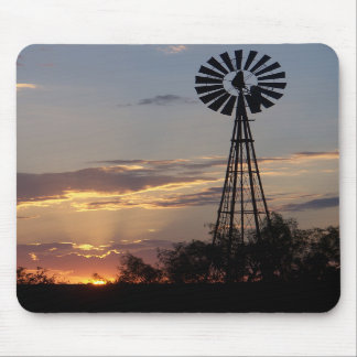 West Texas Windmill Mouse Mat