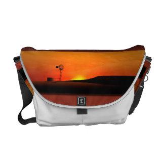 West Texas Windmill Sunset Bag Commuter Bags