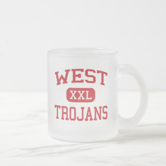West - Trojans - West High School - West Texas 10 Oz Frosted Glass Coffee Mug