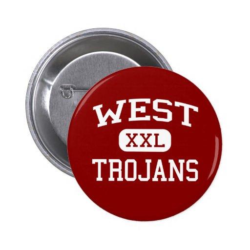 West - Trojans - West Middle School - West Texas Pinback Button