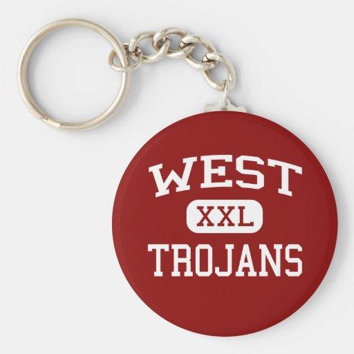 West - Trojans - West Middle School - West Texas Keychain