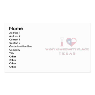West University Place, Texas Business Card Template