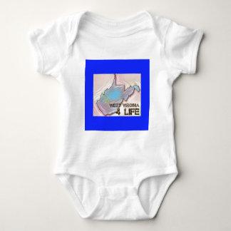 """West Virginia 4 Life"" State Map Pride Design Baby Bodysuit"
