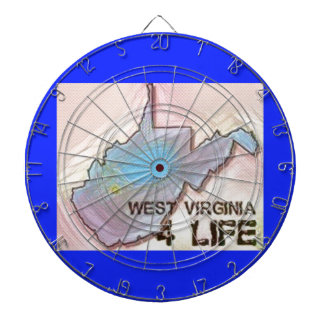 """West Virginia 4 Life"" State Map Pride Design Dartboard"