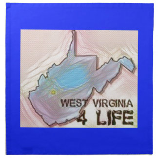 """West Virginia 4 Life"" State Map Pride Design Napkin"