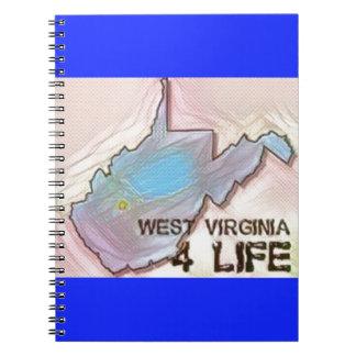 """West Virginia 4 Life"" State Map Pride Design Notebook"