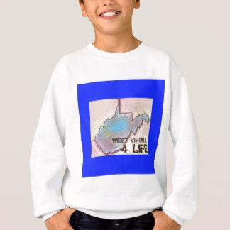 """West Virginia 4 Life"" State Map Pride Design Sweatshirt"