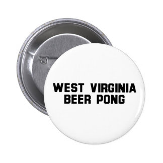 West Virginia Beer Pong Button