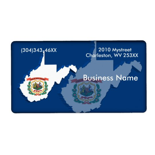 West Virginia Business Label