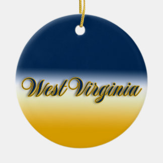 West Virginia Ceramic Ornament