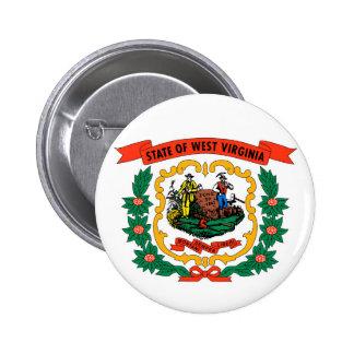 west virginia coat arms state flag united america 6 cm round badge