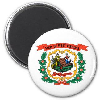 west virginia coat arms state flag united america 6 cm round magnet