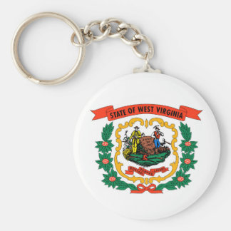 west virginia coat arms state flag united america basic round button key ring