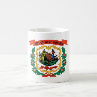 west virginia coat arms state flag united america basic white mug