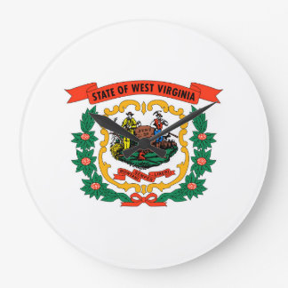 west virginia coat arms state flag united america clock