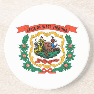 west virginia coat arms state flag united america drink coaster
