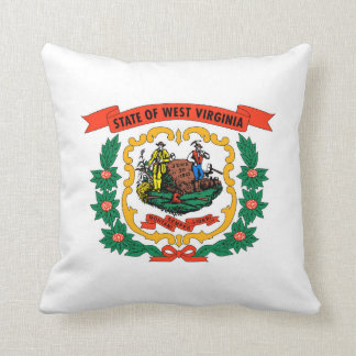west virginia coat arms state flag united america throw pillow