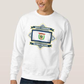 West Virginia Diamond Pull Over Sweatshirts