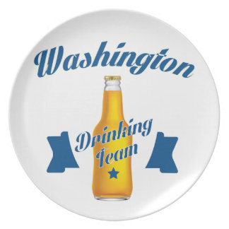 West Virginia Drinking team Plate