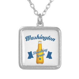 West Virginia Drinking team Silver Plated Necklace
