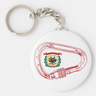 West Virginia Flag Climbing Carabiner Key Ring