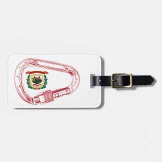 West Virginia Flag Climbing Carabiner Luggage Tag