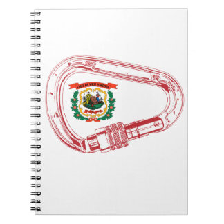 West Virginia Flag Climbing Carabiner Notebooks