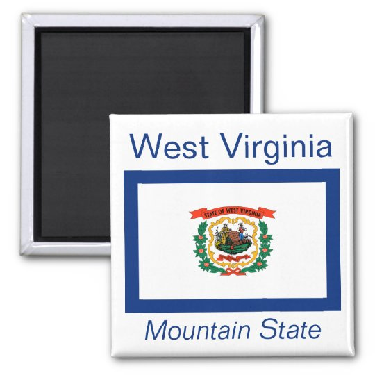 West Virginia Flag Magnet