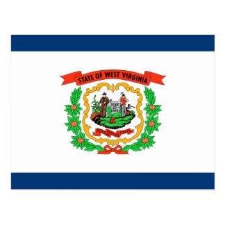 West Virginia Flag Postcard