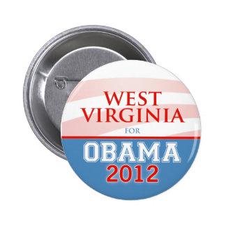 WEST VIRGINIA for Obama 2012 6 Cm Round Badge