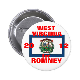 West Virginia for Romney 2012 6 Cm Round Badge
