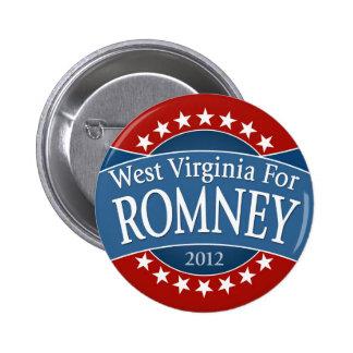 West Virginia for Romney 6 Cm Round Badge