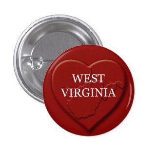 West Virginia Heart Map Design Button