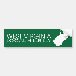 West Virginia Local Hillbilly, Marshall Colors Bumper Sticker