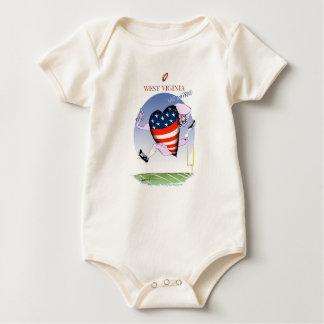 west virginia loud and proud, tony fernandes baby bodysuit