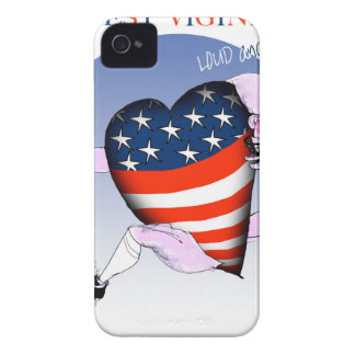 west virginia loud and proud, tony fernandes Case-Mate iPhone 4 case