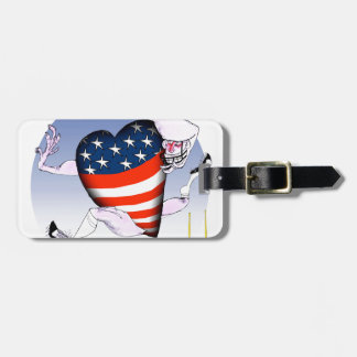 west virginia loud and proud, tony fernandes luggage tag
