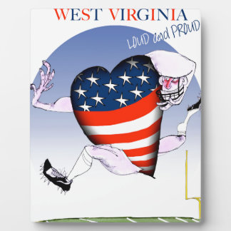 west virginia loud and proud, tony fernandes plaque