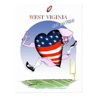 west virginia loud and proud, tony fernandes postcard