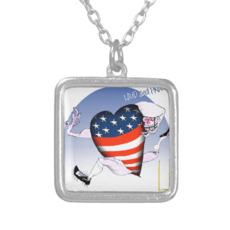 west virginia loud and proud, tony fernandes silver plated necklace