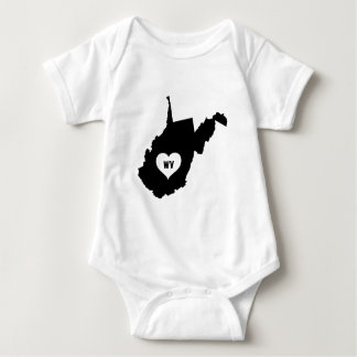 West Virginia Love Baby Bodysuit