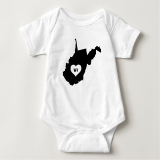 West Virginia Love Baby Bodysuit