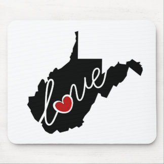 West Virginia Love!  Gifts for WV Lovers Mouse Pad