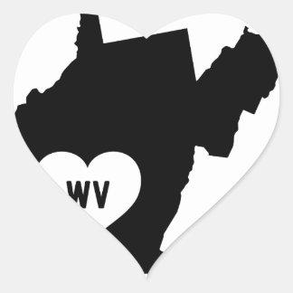West Virginia Love Heart Sticker