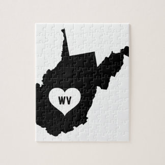 West Virginia Love Jigsaw Puzzle