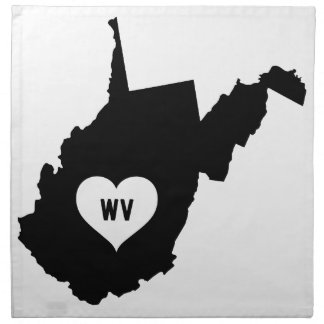 West Virginia Love Napkin